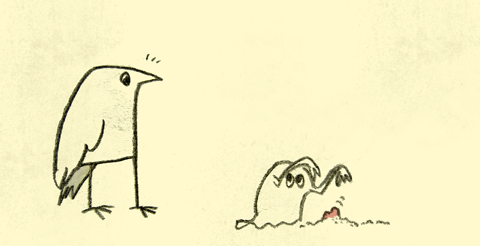 bird and ghost